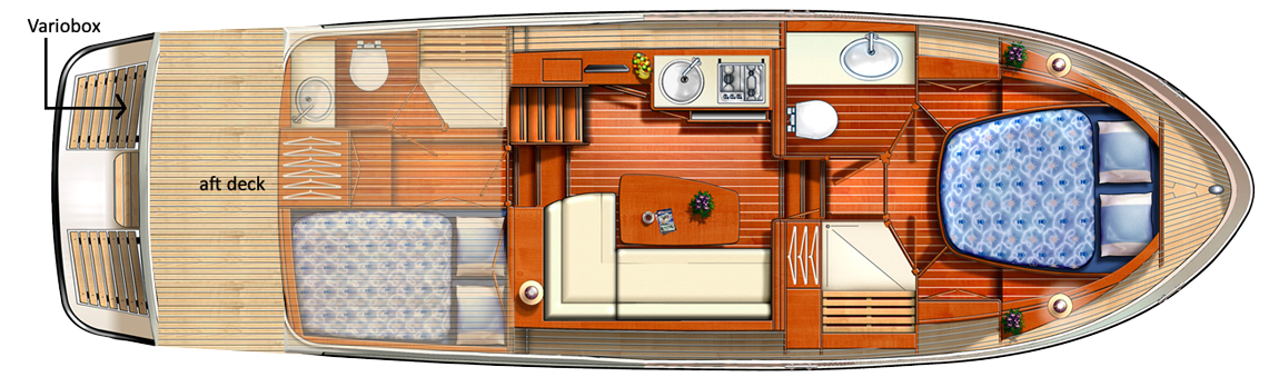 Linssen Grand Sturdy 290 AC Traveller Layout