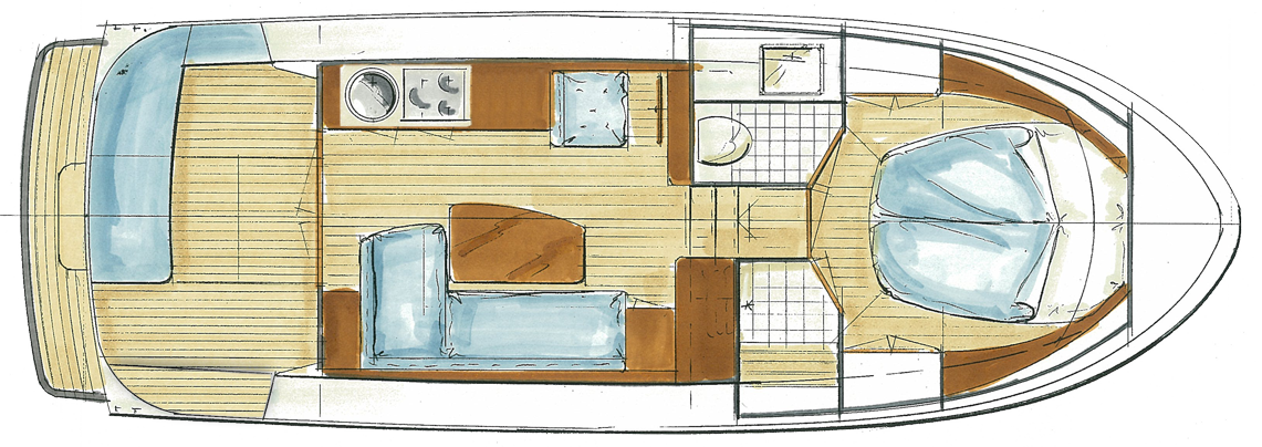 Linssen Grand Sturdy 290 Sedan Layout
