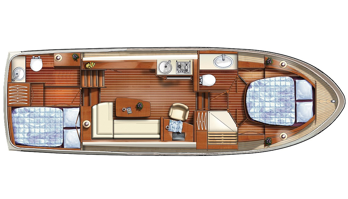 Linssen Grand Sturdy 34.9 AC Layout