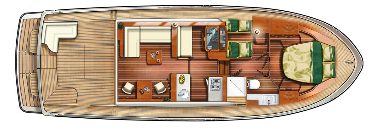 Linssen Grand Sturdy 40.0 Sedan layout