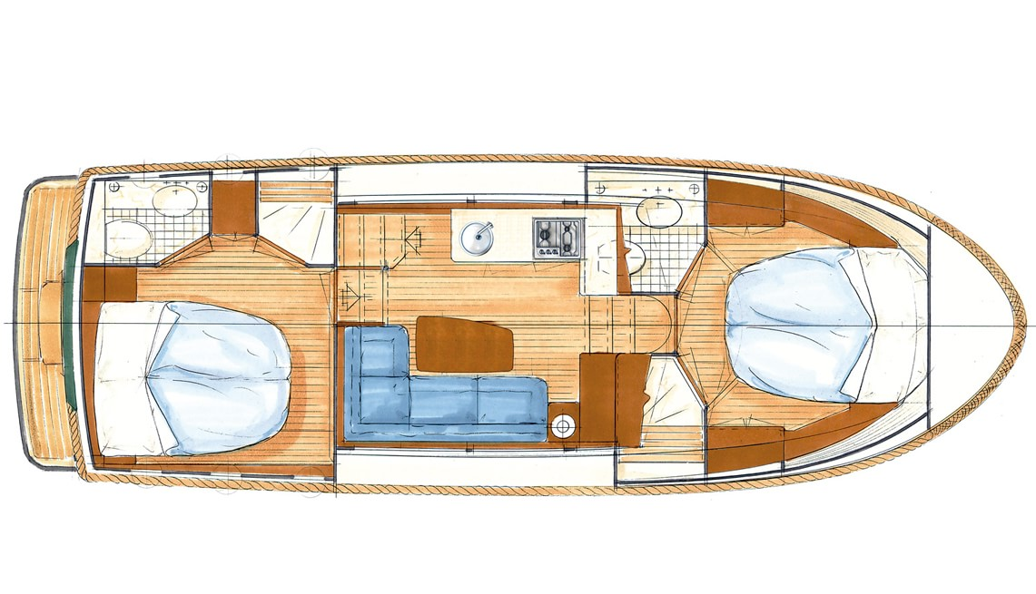 Linssen Classic Sturdy 32 AC Layout