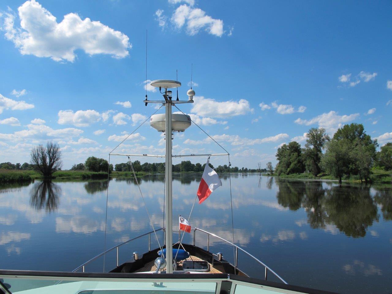 Avec un yacht Linssen en mer Baltique